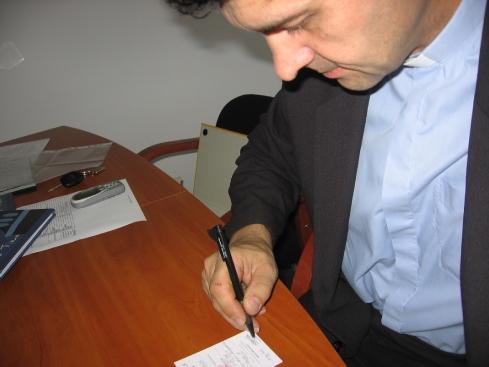 Pierwsze podpisy legitymacji szkolnej